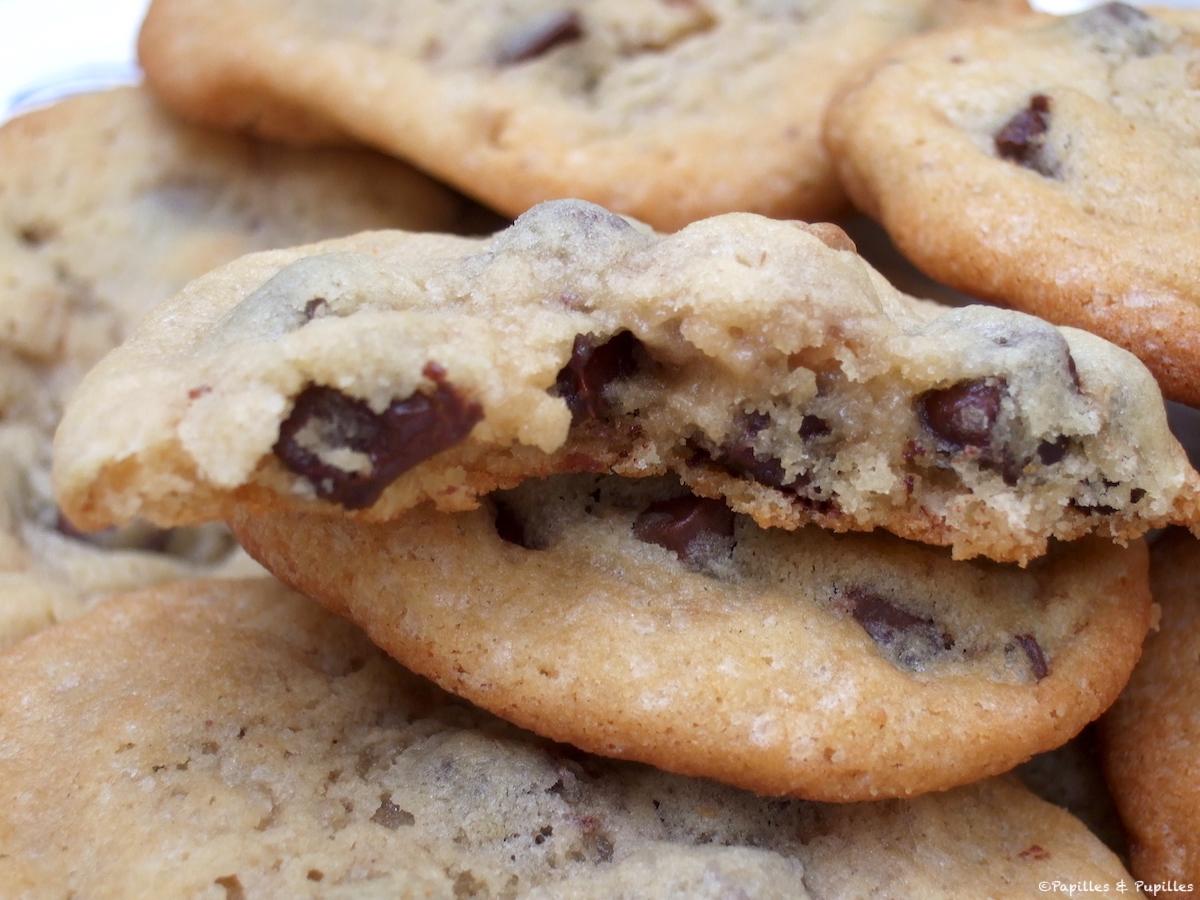 cookie au aux petites de chocolat