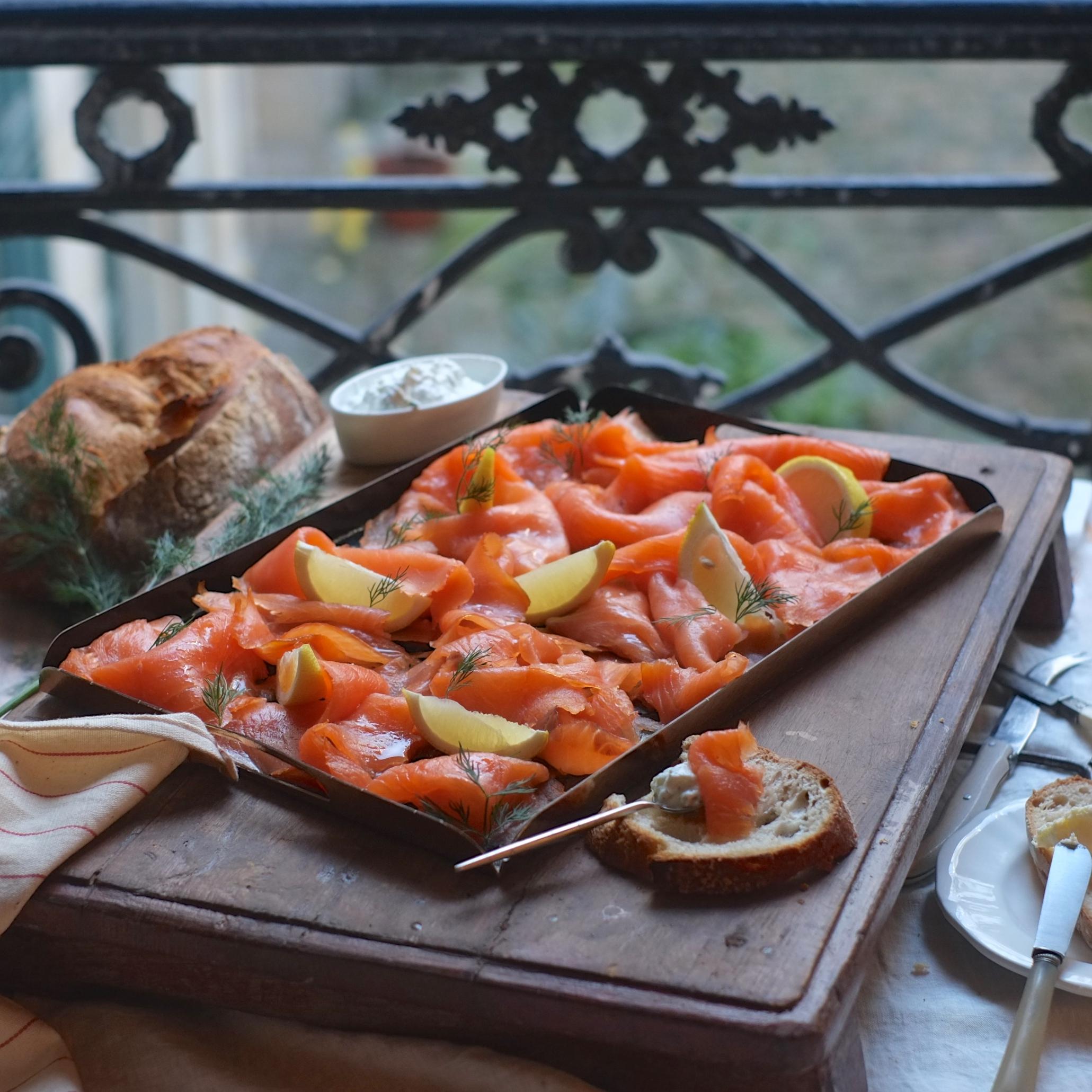 planche de saumon